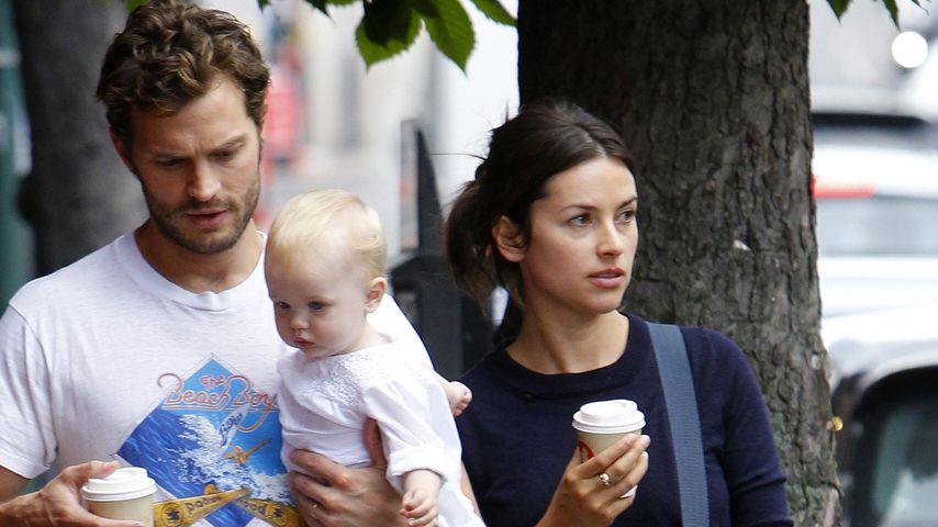 Jamie Dornan mit Amelie Awarner und der gemeinsamen Tochter Dulcie