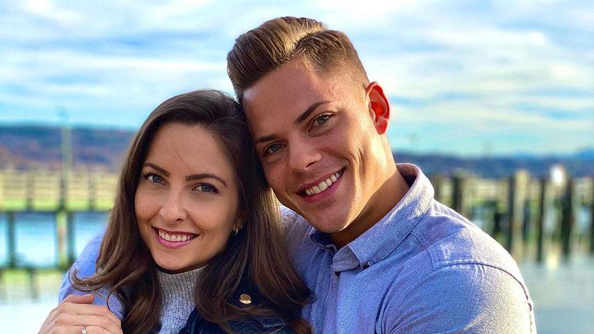Cedric Beidinger mit seiner Zwillingsschwester