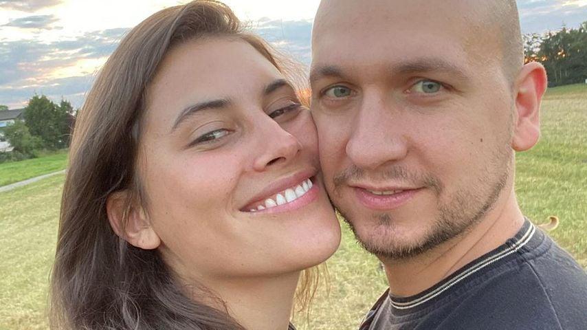 Céline Denefleh mit ihrem Mann
