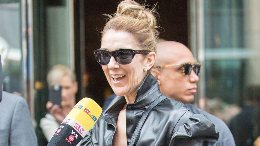Céline Dion beim Verlassen des Regent Hotels in Berlin