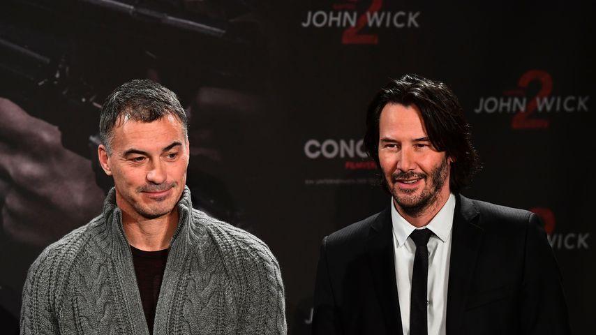 """Chad Stahelski und Keanu Reeves bei der Pressekonferenz zu """"John Wick: Chapter 2"""" in Berlin"""