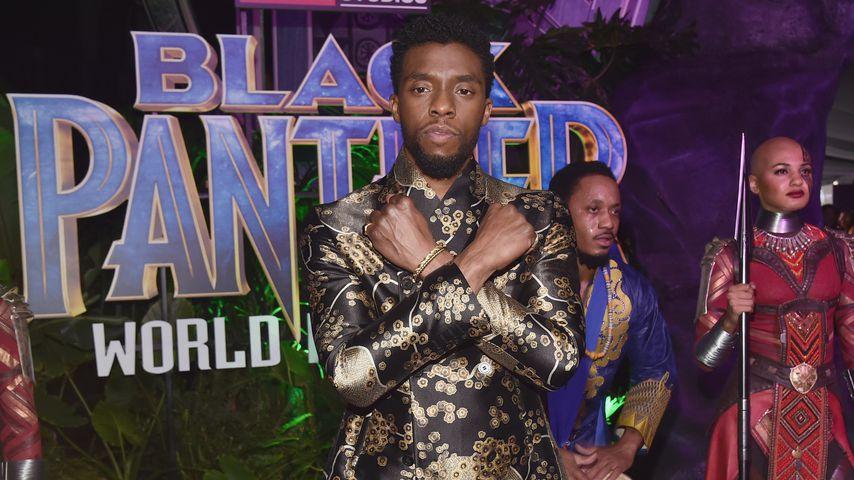 "Chadwick Boseman bei der ""Black Panther""-Weltpremiere 2018"