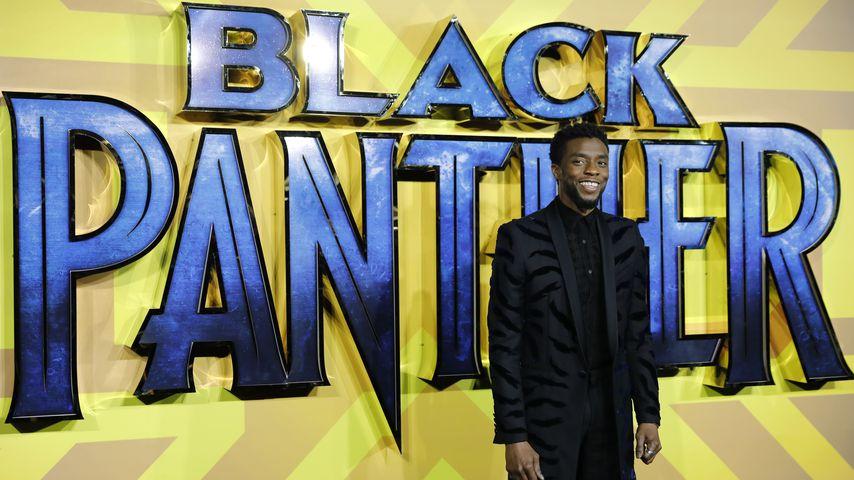 """Chadwick Boseman bei der europäischen """"Black Panther""""-Filmpremiere in London im Februar 2018"""