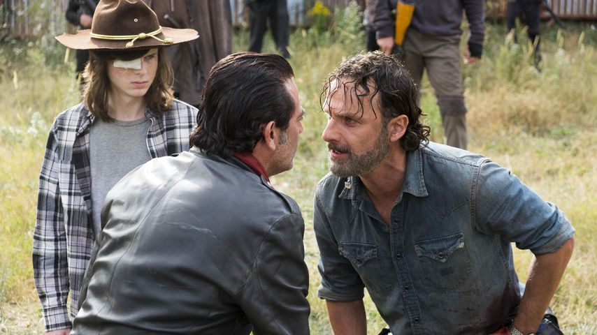 "Chandler Riggs, Jeffrey Dean Morgan und Andrew Lincoln in ""The Walking Dead"""