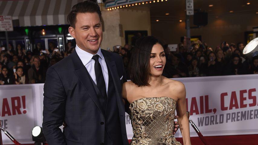 """Channing und Jenna Tatum bei der """"Hail, Caesar!""""-Premiere in Westwood, Kalifornien"""