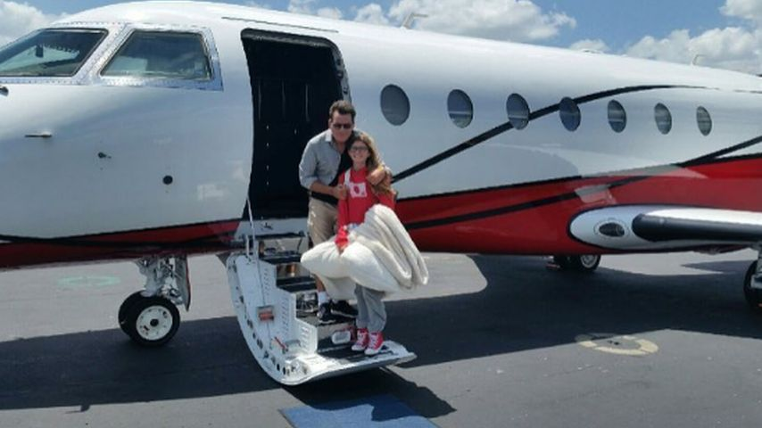 Hollywood-Star Charlie Sheen und seine Tochter Sami