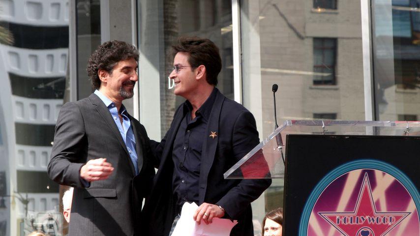 Charlie Sheen und Chuck Lorre