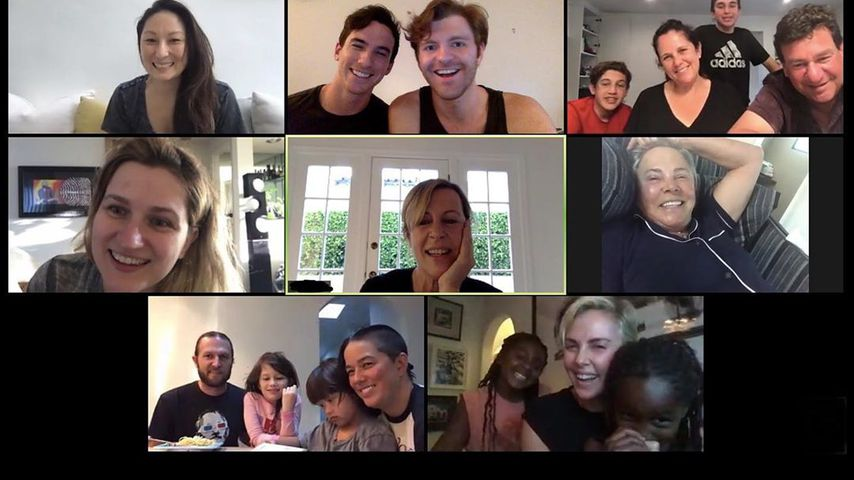 Charlize Therons Video-Call im August 2020