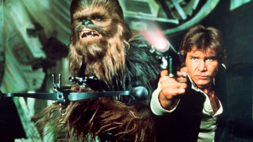Peter Mayhew und Harrison Ford