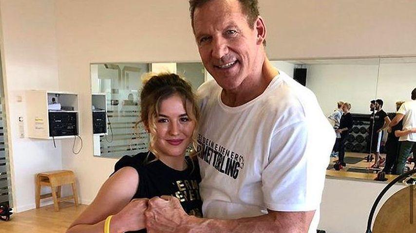 Cheyenne Hanson mit Ralf Moeller