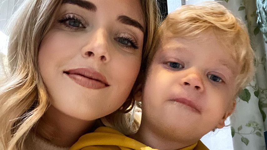 Chiara Ferragni mit ihrem Sohn Leone