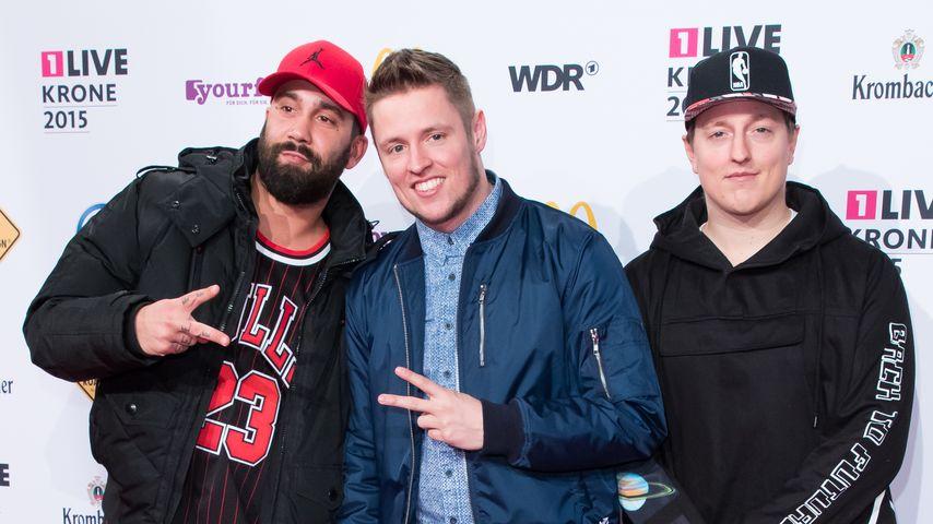 Chris, C-Bas und Phil bei der 1 Live Krone 2015 in Bochum