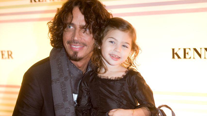 Chris Cornell mit seiner Tochter Toni, 2008