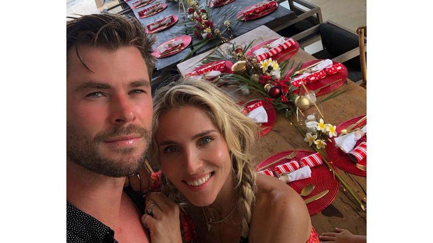 Chris Hemsworth und Elsa Pataky Weihnachten 2019
