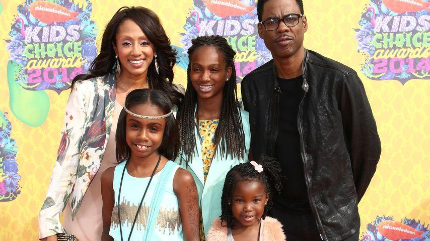 Chris Rock mit Malaak Compton-Rock und seinen Kids