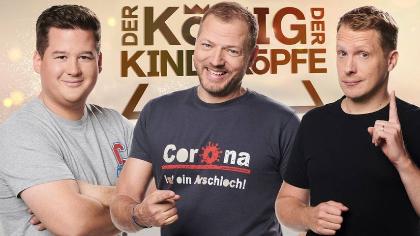 """""""Der König der Kindsköpfe""""-Kandidaten: Chris Tall, Mario Barth und Oliver Pocher"""