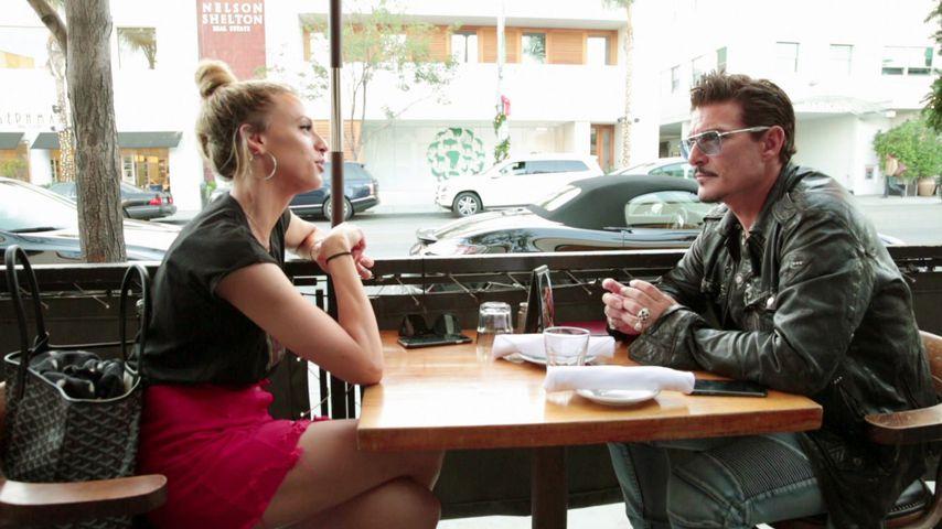 Chris Töpperwien mit Auswanderin und Nachwuchsschauspielerin Patricia