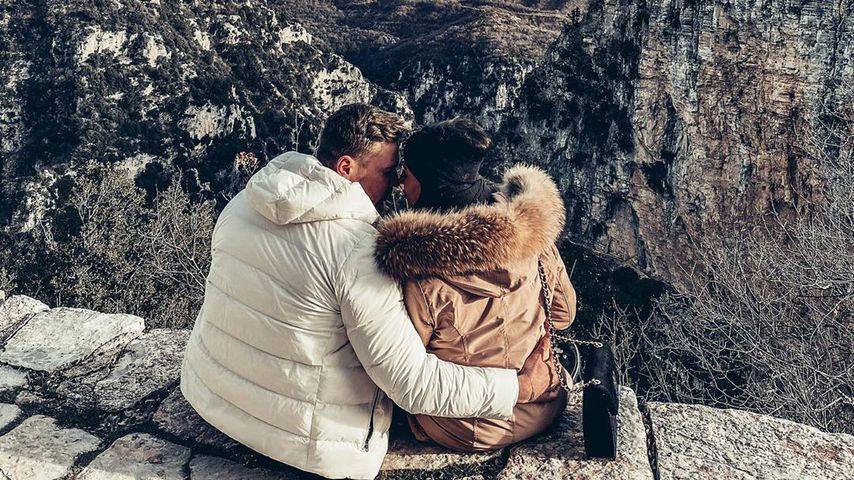Chris und Eva im Griechenland-Urlaub, Januar 2020