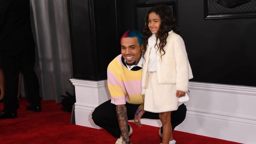 Chris und Royalty Brown bei den Grammy Awards 2020