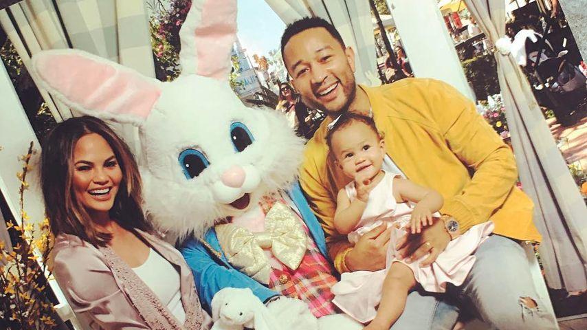 Chrissy Teigen und John Legend mit ihrer Tochter Luna Simone
