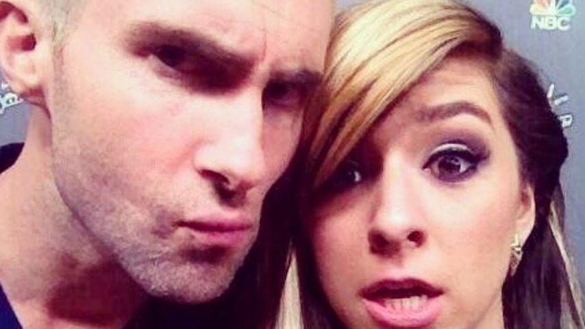 Christina Grimmie mit Adam Levine
