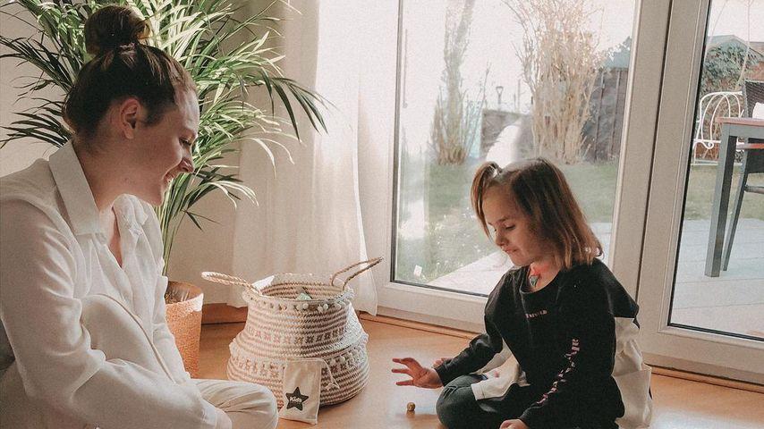 Christine Eggert mit ihren beiden Kindern