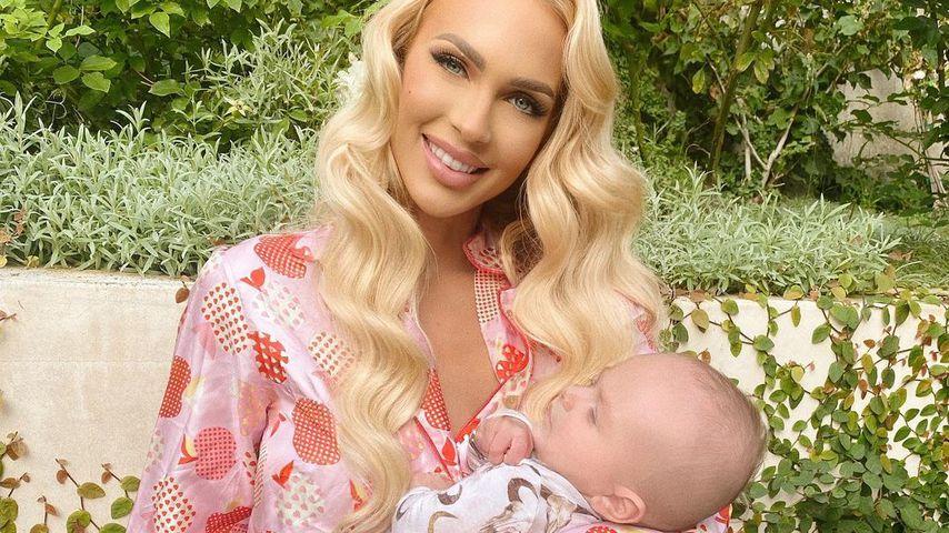 Christine Quinn mit ihrem Sohn