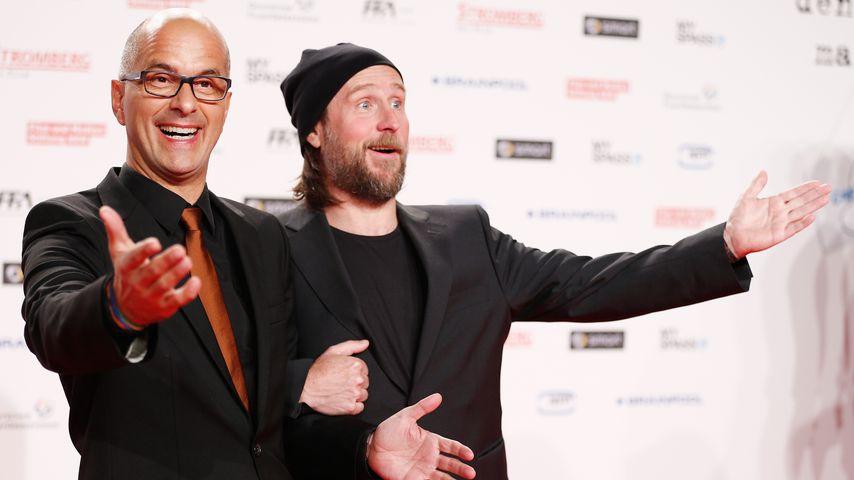 Christoph Maria Herbst und Bjarne Mädel bei der Premiere von Stromberg – Der Film