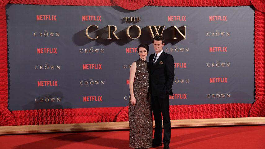 """Claire Foy und Matt Smith bei der Weltpremiere von """"The Crown"""" in London im November 2017"""