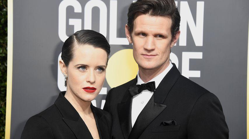 Claire Foy und Matt Smith bei der 75. Golden Globe Verleihung