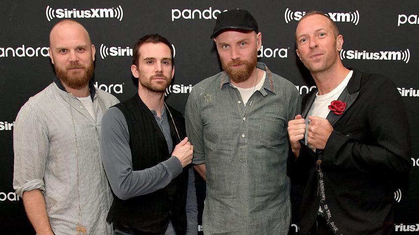 Chris Martin mit seiner Band Coldplay, Januar 2020