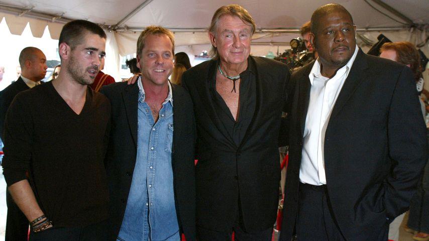Colin Farrell, Kiefer Sutherland, Joel Schumacher und Forest Whitaker, 2002