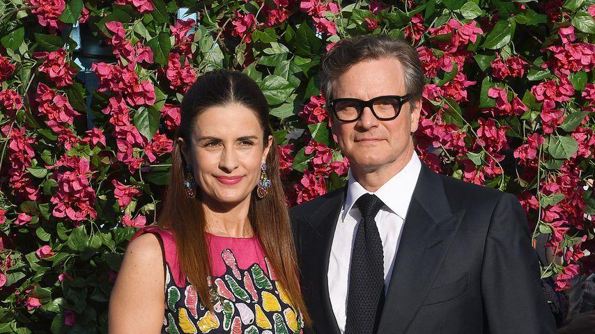 Colin Firth mit seiner Frau Livia