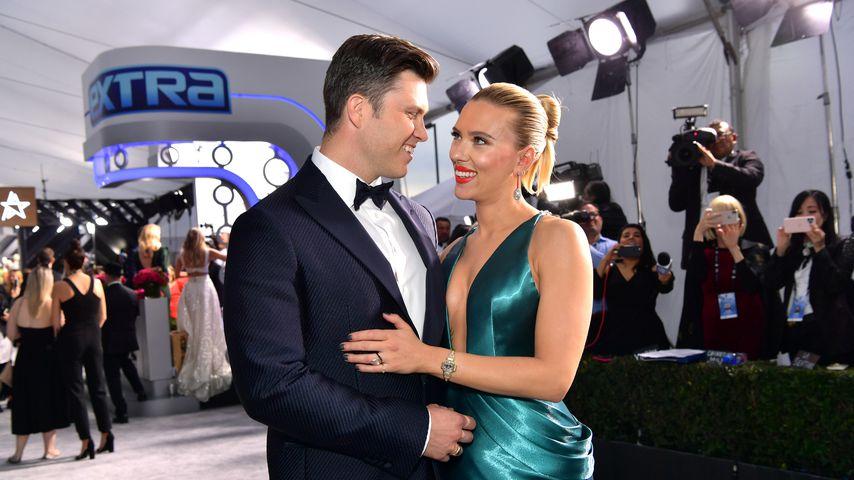 Colin Jost und Scarlett Johansson bei den SAG-Awards in L.A. im Januar 2020