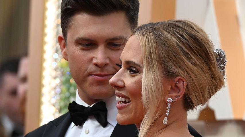 Colin Jost und Scarlett Johansson bei der Oscarverleihung 2020