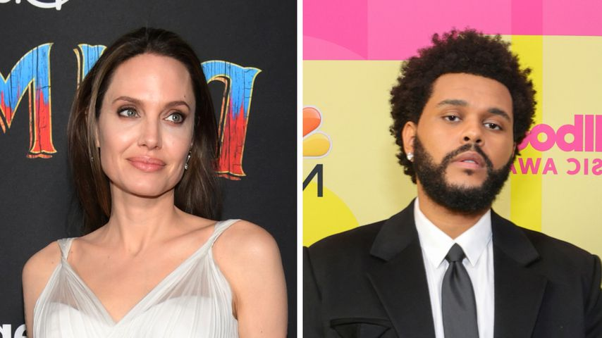 Kein Flirt? Das geht zwischen Angelina Jolie und The Weeknd