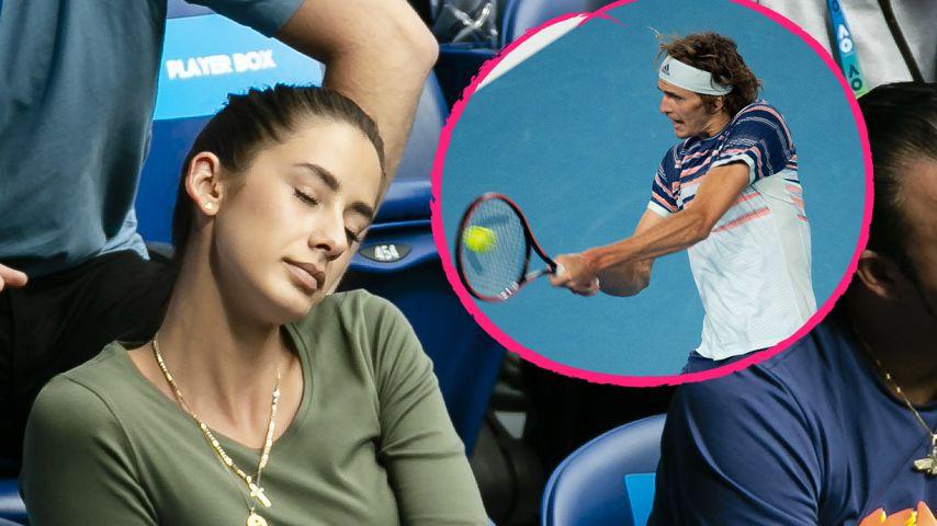 """Eingeschlafen? Hier """"schaut"""" GNTM-Brenda Tennis-Freund zu"""