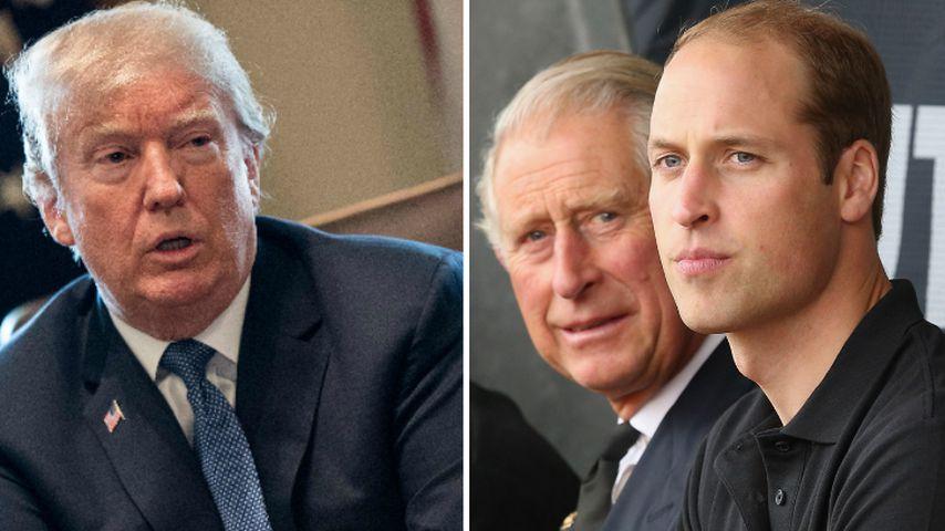 Kein Bock auf Trump? Charles & William nicht bei Treffen!