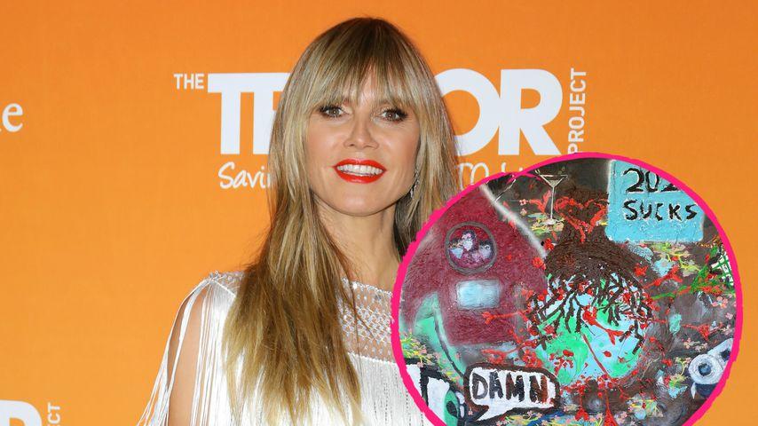 Während Lockdown: Heidi Klum startet Familien-Kunstprojekt