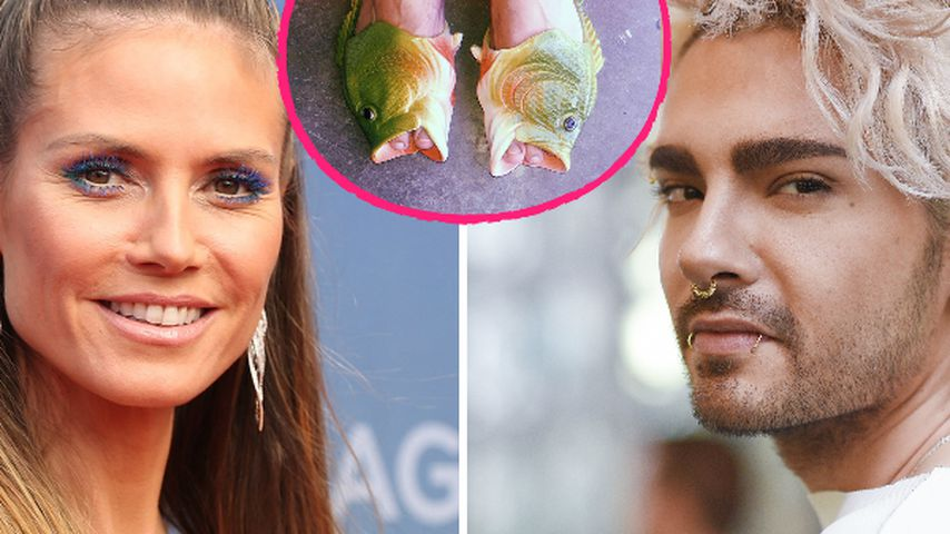 Mode-Tipps von Heidi? Bill Kaulitz in gleichen Sch(l)uppen