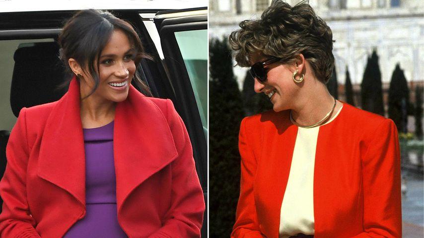 Herzogin Meghans Color-Blocking-Look: Schon Diana trug ihn!