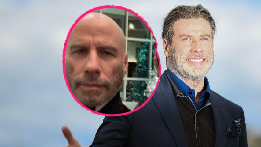 John Travolta hat Haare ab & zeigt sich im Netz mit Glatze!