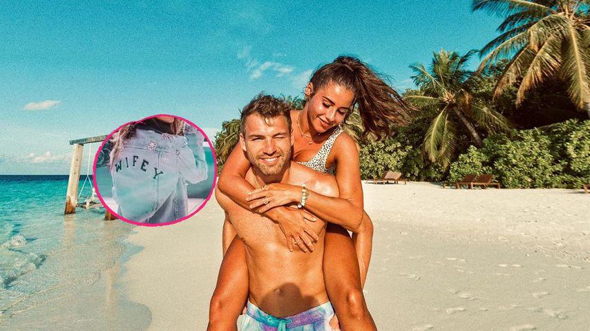 """""""Wifey""""-Jacke: Haben Julian und Sarah heimlich geheiratet?"""