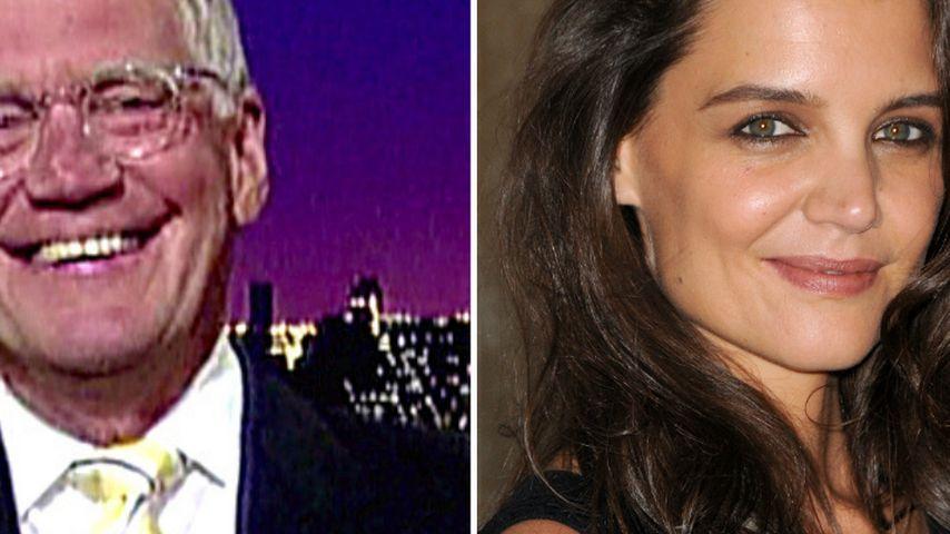 Letterman hilft Katie Holmes bei ihrem 1. Ma(h)l