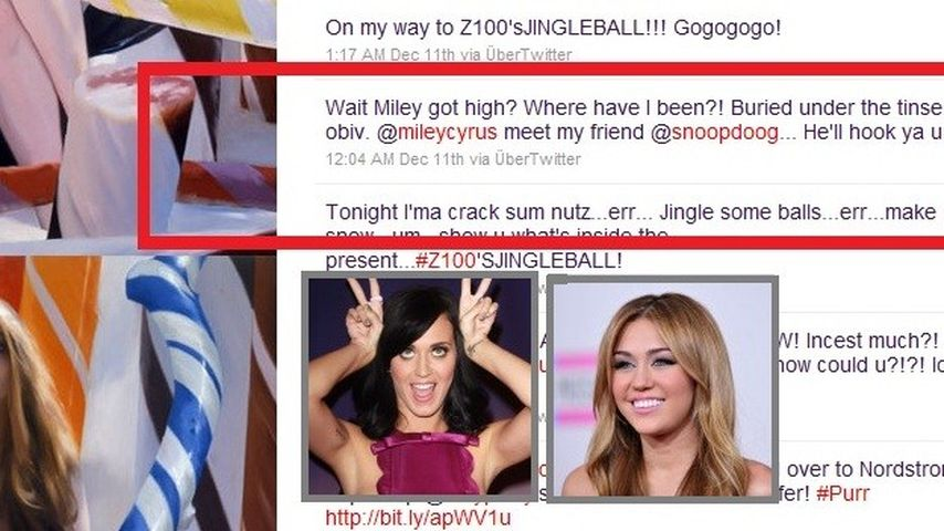 Katy Perry scherzt über Miley Cyrus' Bong-Video