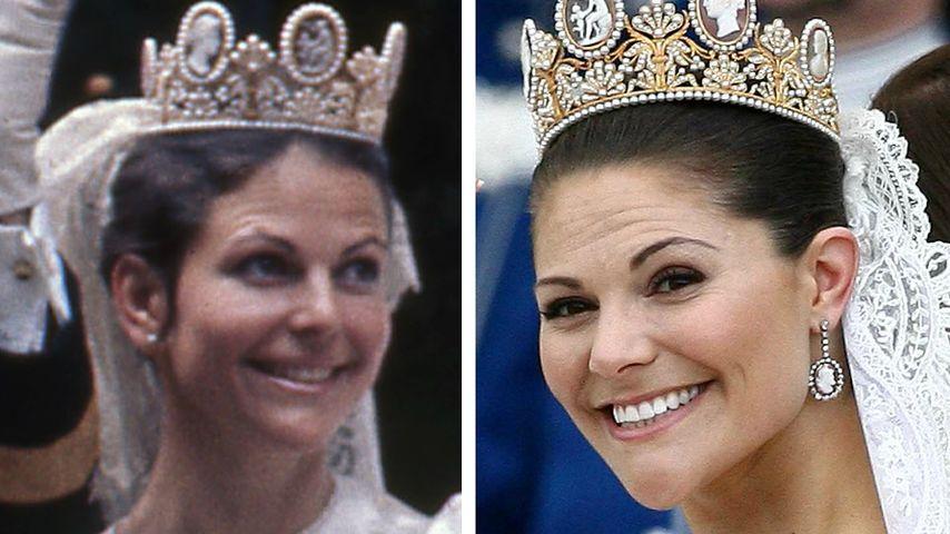 2x Schweden-Hochzeitstag: So ähnlich sah Victoria ihrer Mama