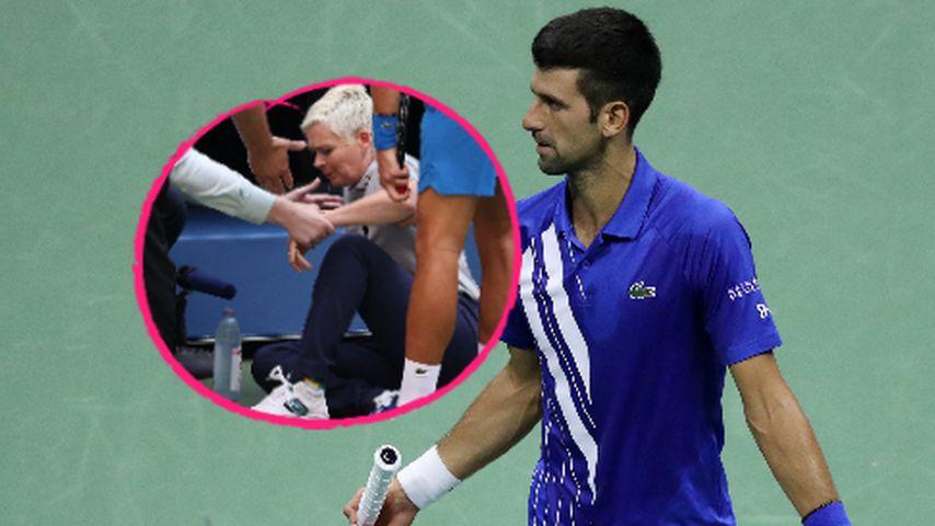Tennis-Ass Novak Djokovic trifft Linienrichterin am Kehlkopf