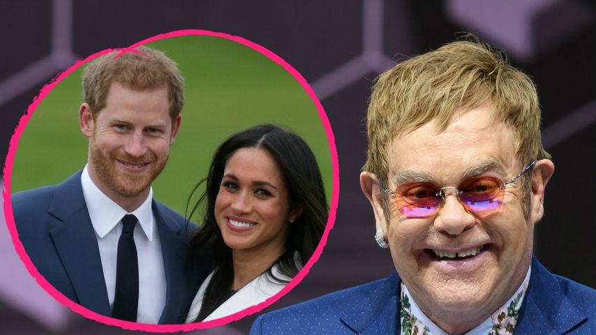 Prinz Harry, Meghan Markle und Elton John