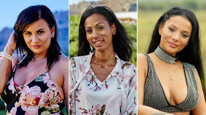 """Collage: Sarah, Mahta und Emilija, """"Adam sucht Eva""""-Kandidatinnen"""