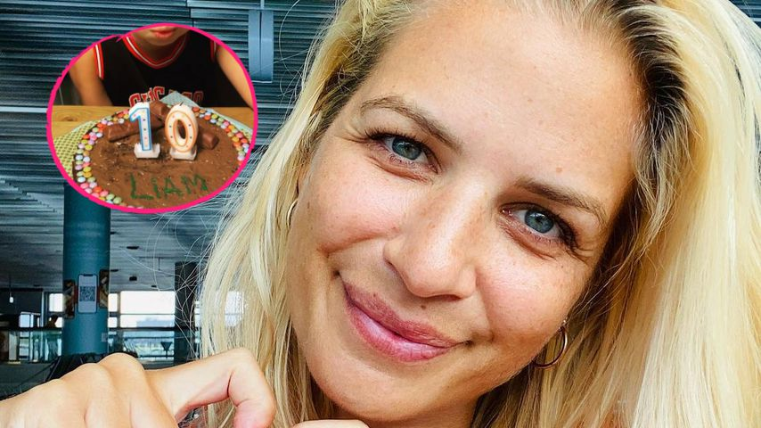 Seltener Einblick: Susan Sideropoulos gratuliert ihrem Sohn